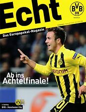 Programmheft # 06 - UEFA CL - BVB 09 / Manchester City FC - Gameday Magazine
