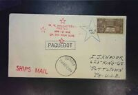 United States - 2 Paquebot Covers (1952 & 1971) With NZ & Ireland Cncls - Z1536