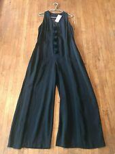 New listing Womens Vintage 90S Wide Leg Black Floral Jumpsuit Romper Xl