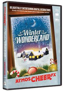 Atmoscheerfx Winter Wonderland DVD Holiday Display Digital Decorations