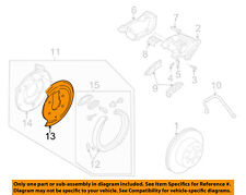 GM OEM Disc Brake-Rear-Dust Shield Left 15158972