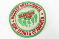 Vintage Bear Paw Camp Nicolet Area Council BSA Boy Scout of America Camp Patch
