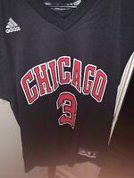 NBA Adidas Chicago Bulls Dwayne Wade Jersey Black/Red Alternate Colorway Small
