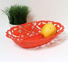Corbeille à fruits plastique orange vintage