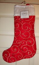 HOLIDAY/COLLECTION~child/adult~RED/CHRISTMAS/SOCKING/PEARLS/&/EMBROIDERY! N/W/T!