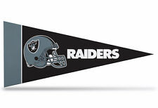 """New NFL Oakland Raiders Mini Pennant  9""""x4"""" (22 x 9 1/2 cm) Made in USA Banner"""