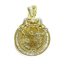 14k Gold Plated 50 Pesos Mexican Centenario Coin with Holder CZ Pendant Horse