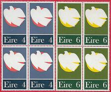 Ireland 1972 Set of 2 Patriot Day blocks of 4 sg 315-6 MNH