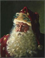 Holidays Cross Stitch Pattern_Portrait of Father Christmas_Santa Claus
