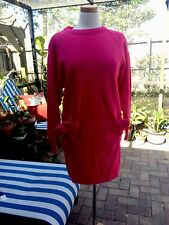 Vtg Ambria Hot Pink 50%% Wool Made In ITALY