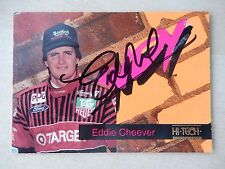 Eddie Cheever Autographed 1993 Hi-Tech Racing Card (#2)