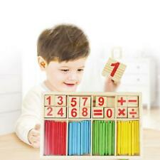 Wooden Montessori Mathematics Number Early Learning Kids Counting Toy P6P7