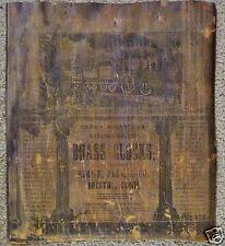Label Birge, Peck & Co. 8 Day Column & Cornice Antique Clock Parts