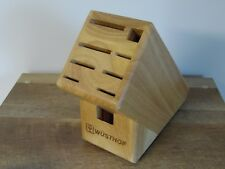 Wusthof Trident Wood 9 Slot Knife Block Chef Cooking Kitchen