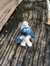 Vintage Baby Smurf Schleich Peyo Figurine Blue White Cartoon Toy 60s Hong Kong