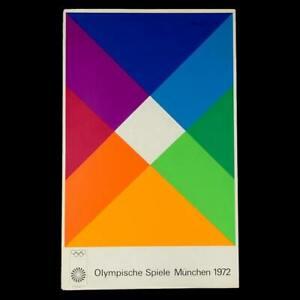 "MAX BILL - ORIGINAL Vintage 1972 Munich Olympic Art Poster 25"" x 40"" (Edition 2)"
