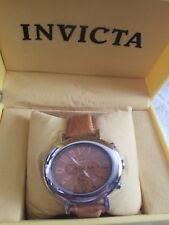 NEW INVICTA Model #2660 Womens Watch tan Genuine Ostrich Strap tan
