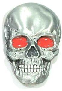Father Skull Enameled Siskiyou Belt Buckle Biker