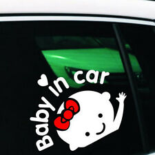 Self-adhesive Baby In Car Window Car Sticker Removable Attetion Decoration Hot