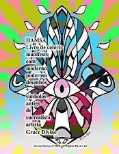 HAMSA Livro de Colorir Manifesto Com Moderno Poderoso Desenhos + Símbolos...