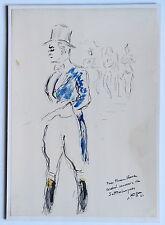 "CHARLES KIFFER DESSIN AQUARELLE ""MONSIEUR LOYAL"" à Mr VERNA ? 1941"