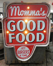 Momma's Good Food LED Metal Sign -Vintage Look---LED Lighted