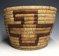 19th-20th C. Paiute Panamint Great Basin Native American Polychrome Woven Basket