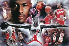 Michael Jordan 24x36 Poster NBA Basketball Chicago Bulls 23 Air Wings Wall Art