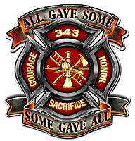 """All Gave Some"" Firefighters Metal Sign - Hand Made in USA with American Steel"