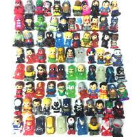Mixed Lot 30PCS Ooshies DC Comics/Marvel/Disney/TMNT Pencil Toppers Figure Toys
