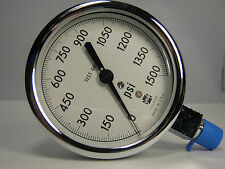 "Pressure Gauge 161955 1409 3"" 1500 PSI 1/4"" LMC"