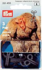 3 fur Hooks Hook And Eyes Various Colours Brass Umzogen