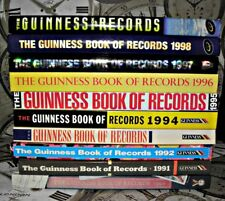 10x Guinness Book Of Records, Hardbacks, 1990-1999. Collection/Joblot
