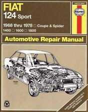 Fiat 124 Sport Coupe and Spider 1400, 1600, 1800 1968 - 1978 Workshop Manual