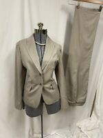 ANN TAYLOR PANT SUIT & JACKET 100% WOOL LIGHTWEIGHT Pants 10 Jacket 12 Classy