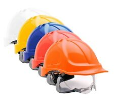 PORTWEST Endurance Visor Helmet Safety Hard Hat Cap Ratchet Chin Strap PW55