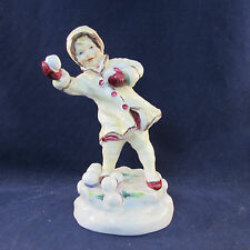 F G Doughty Royal Worcester DECEMBER Figurine