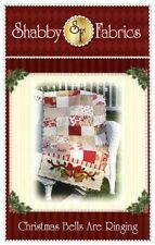 CHRISTMAS BELLS ARE RINGING TABLE RUNNER Shabby Fabrics  pattern Quilting