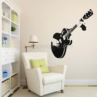 Guitar Notation Musical Wall Stickers Mural Decal Bedroom Home Wallpaper Decors