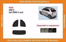 pellicola oscurante vetri fiat 500 3 porte C dal 2009 in poi kit posteriore