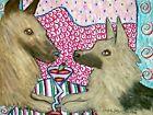 BELGIAN TERVUREN Collectible 11x14 Art Print Drinking Martinis by Artist KSams