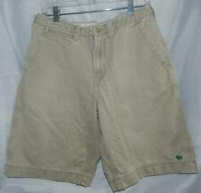 Men's Aeroostale Distressed Khaki Bermuda Shorts Size 31