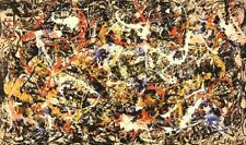 CANVAS ART CONVERGENCE BY JACKSON POLLOCK GALLERY WRAPPED STRETCHED ABSTRACT ART
