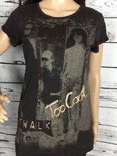 Total Girl T-Shirt Brown Tween XL Catwalk Lace Back Casual Short Sleeve Top