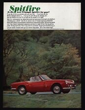 1963 TRIUMPH SPITFIRE Red Convertible Sports Car VINTAGE AD