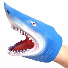 Shark Hand Puppet - Assorted Colour - Fun Rubber Shark Puppet - Gift