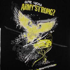 US Army Strong T-Shirt XL Eagle Chopper Parachute Star United States Military