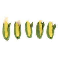 1/12 Scale Corn Dollhouse Miniature Vegetable Food Accessory 5pcs