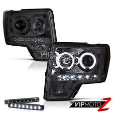 SMOKE+CCFL Halo Projector Headlights 2009 2010 2011 2012 2013 2014 F150 Raptor