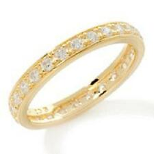 ABSOLUTE VERMEIL ROUND PRONG-SET ETERNITY BAND RING SIZE 8 HSN SOLD OUT